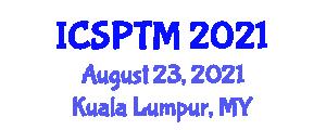 International Conference on Sustainable Public Transportation Management (ICSPTM) August 23, 2021 - Kuala Lumpur, Malaysia