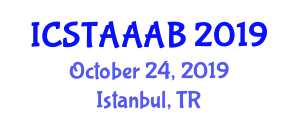 International Conference on Sustainable Technologies for Agriculture and Applications of Agricultural Biotechnology (ICSTAAAB) October 24, 2019 - Istanbul, Turkey