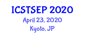 International Conference on Sustainable Transportation Studies, Engineering and Planning (ICSTSEP) April 23, 2020 - Kyoto, Japan