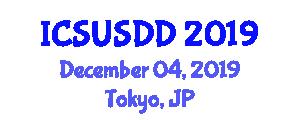 International Conference on Sustainable Urban Street Design and Development (ICSUSDD) December 04, 2019 - Tokyo, Japan