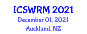 International Conference on Sustainable Water Resources Management (ICSWRM) December 01, 2021 - Auckland, New Zealand