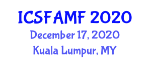 International Conference on Synthetic Fibers and Artificially Manufactured Fibres (ICSFAMF) December 17, 2020 - Kuala Lumpur, Malaysia