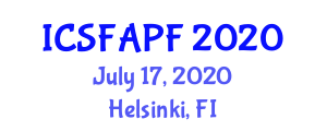 International Conference on Synthetic Fibers, Animal and Plant Fibres (ICSFAPF) July 17, 2020 - Helsinki, Finland