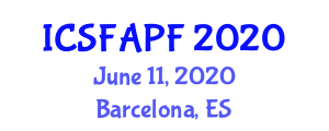 International Conference on Synthetic Fibers, Animal and Plant Fibres (ICSFAPF) June 11, 2020 - Barcelona, Spain
