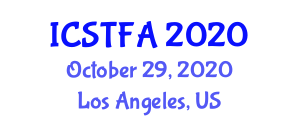 International Conference on Synthetic Textile Fibers and Applications (ICSTFA) October 29, 2020 - Los Angeles, United States