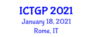 International Conference on Tectonic Geomorphology and Paleoseismology (ICTGP) January 18, 2021 - Rome, Italy