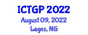 International Conference on Tectonic Geomorphology and Paleoseismology (ICTGP) August 09, 2022 - Lagos, Nigeria