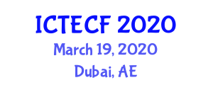 International Conference on Textile Engineering and Chemical Fiber (ICTECF) March 19, 2020 - Dubai, United Arab Emirates
