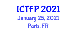 International Conference on Textile Fibers and Products (ICTFP) January 25, 2021 - Paris, France