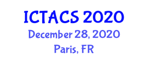 International Conference on Theoretical and Applied Computer Science (ICTACS) December 28, 2020 - Paris, France