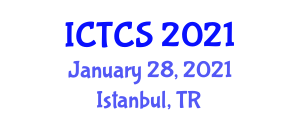 International Conference on Theoretical and Computational Seismology (ICTCS) January 28, 2021 - Istanbul, Turkey