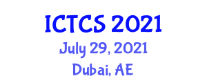International Conference on Theoretical and Computational Seismology (ICTCS) July 29, 2021 - Dubai, United Arab Emirates