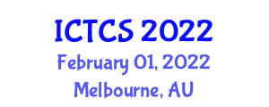 International Conference on Theoretical and Computational Seismology (ICTCS) February 01, 2022 - Melbourne, Australia