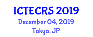 International Conference on Traffic Enforcement Camera and Road Safety (ICTECRS) December 04, 2019 - Tokyo, Japan