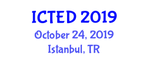 International Conference on Traffic Engineering and Design (ICTED) October 24, 2019 - Istanbul, Turkey