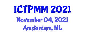 International Conference on Traffic Psychology and Main Models (ICTPMM) November 04, 2021 - Amsterdam, Netherlands
