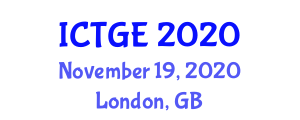 International Conference on Transport, Geography and Environment (ICTGE) November 19, 2020 - London, United Kingdom