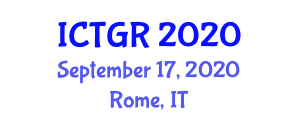 International Conference on Transport Geography and Research (ICTGR) September 17, 2020 - Rome, Italy