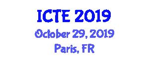 International Conference on Transportation and Economy (ICTE) October 29, 2019 - Paris, France