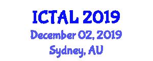 International Conference on Transportation, Aviation and Logistics (ICTAL) December 02, 2019 - Sydney, Australia