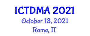 International Conference on Transportation Demand Management and Analysis (ICTDMA) October 18, 2021 - Rome, Italy