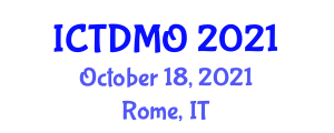 International Conference on Transportation Demand Management and Operations (ICTDMO) October 18, 2021 - Rome, Italy