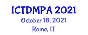 International Conference on Transportation Demand Management, Planning and Analysis (ICTDMPA) October 18, 2021 - Rome, Italy