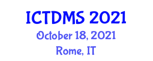 International Conference on Transportation Demand Management Strategies (ICTDMS) October 18, 2021 - Rome, Italy