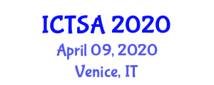International Conference on Transportation Science and Applications (ICTSA) April 09, 2020 - Venice, Italy