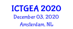 International Conference on Tropical Geography and Ecosystem Analysis (ICTGEA) December 03, 2020 - Amsterdam, Netherlands