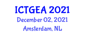 International Conference on Tropical Geography and Ecosystem Analysis (ICTGEA) December 02, 2021 - Amsterdam, Netherlands