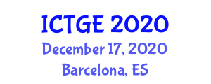 International Conference on Tropical Geography and Environment (ICTGE) December 17, 2020 - Barcelona, Spain