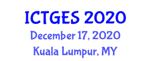 International Conference on Tropical Geography and Environmental Studies (ICTGES) December 17, 2020 - Kuala Lumpur, Malaysia