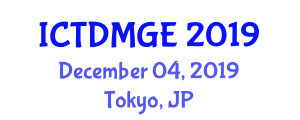 International Conference on Two-Dimensional Materials and Epitaxial Graphene (ICTDMGE) December 04, 2019 - Tokyo, Japan