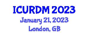 International Conference on Underwater Robotics, Design and Manufacturing (ICURDM) January 21, 2023 - London, United Kingdom