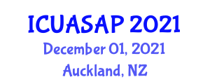 International Conference on Unmanned Aerial Systems and Aerospace Propulsion (ICUASAP) December 01, 2021 - Auckland, New Zealand