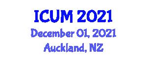 International Conference on Urban Methodologies (ICUM) December 01, 2021 - Auckland, New Zealand