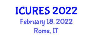 International Conference on Urban Renewable Energy Systems (ICURES) February 18, 2022 - Rome, Italy