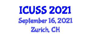 International Conference on Urbanization and Social Structure (ICUSS) September 16, 2021 - Zurich, Switzerland