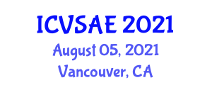 International Conference on Veterinary and Animal Epidemiology (ICVSAE) August 05, 2021 - Vancouver, Canada