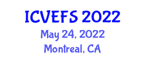 International Conference on Veterinary Epidemiology and Food Safety (ICVEFS) May 24, 2022 - Montreal, Canada