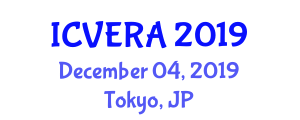 International Conference on Veterinary Epidemiology and Risk Analysis (ICVERA) December 04, 2019 - Tokyo, Japan