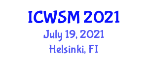 International Conference on Water and Soil Microbiology (ICWSM) July 19, 2021 - Helsinki, Finland