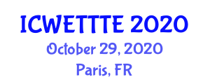 International Conference on Wearable E-Textile Technologies and Textile Electrodes (ICWETTTE) October 29, 2020 - Paris, France