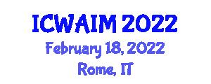 International Conference on Web-Age Information Management (ICWAIM) February 18, 2022 - Rome, Italy