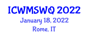 International Conference on Workflow Management Systems and Work Quality (ICWMSWQ) January 18, 2022 - Rome, Italy