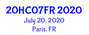 International Healthcare Conference (20HC07FR) July 20, 2020 - Paris, France