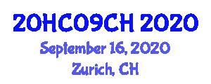 International Healthcare Conference (20HC09CH) September 16, 2020 - Zurich, Switzerland