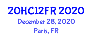 International Healthcare Conference (20HC12FR) December 28, 2020 - Paris, France